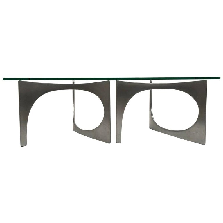 Custom Order Twin Sculptural Form Knut Hesterberg Coffee Table, 1971, Published For Sale