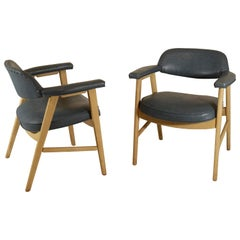 Custom Ordered Cerused Oak Finish Chairs by Paoli