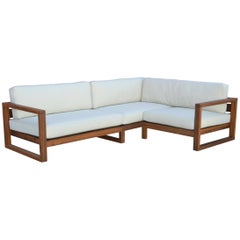 Custom Outdoor Sofa Made from Teak