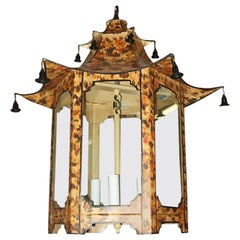 Custom Pagoda-Shaped Faux-Tortoise Fixture