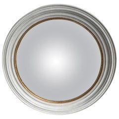 Custom Painted Round Convex Mirror, circa 1980s
