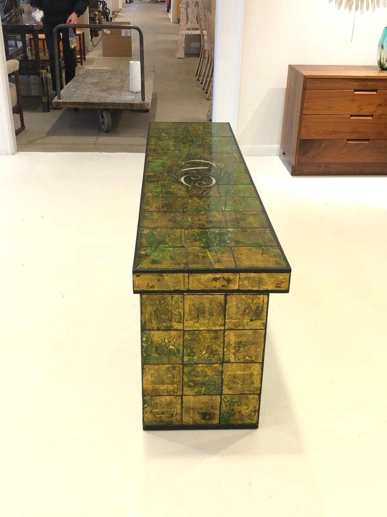 Custom Paul Laszlo Verre Églomisé Console Table For Sale 3