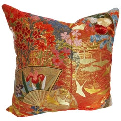Custom Pillow by Maison Suzanne Cut from a Vintage Japanese Silk Wedding Kimono