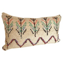Custom Pillow Cut from a Vintage Moroccan Wool Azilal Rug