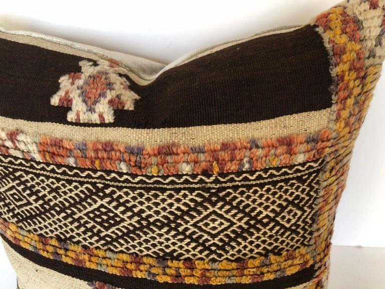Custom Pillow by Maison Suzanne Cut from a Vintage Moroccan Wool Glaoui Rug For Sale 1