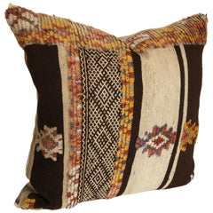 Custom Pillow by Maison Suzanne Cut from a Vintage Moroccan Wool Glaoui Rug