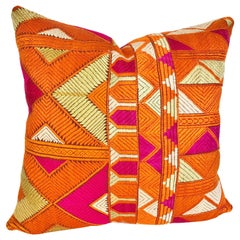 Custom Pillow by Maison Suzanne Cut from a Vintage Phulkari Bagh Wedding Shawl