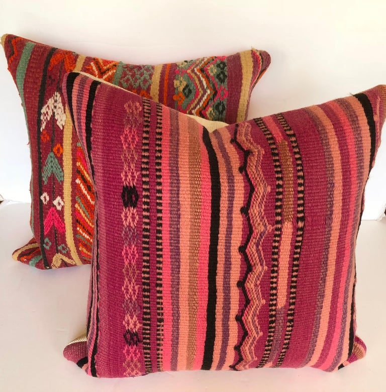Custom Pillow by Maison Suzanne Cut from a Vintage Wool Moroccan Berber Rug For Sale 2