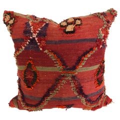 Custom Pillow by Maison Suzanne Cut from a Hand Loomed Wool Moroccan Berber Rug