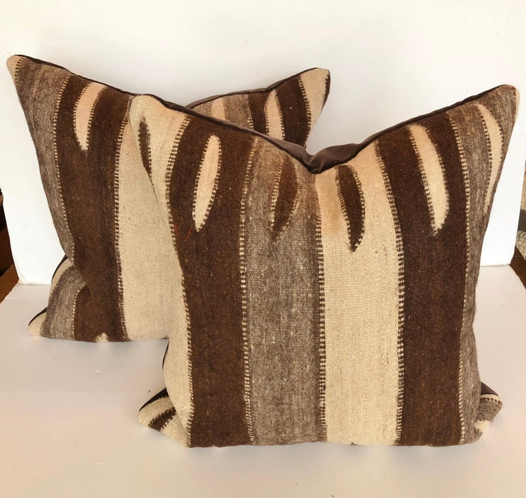 Custom Pillow by Maison Suzanne, Cut from a Vintage Wool Moroccan Berber Rug In Good Condition For Sale In Glen Ellyn, IL