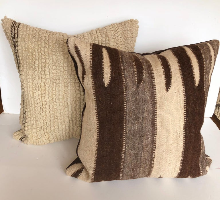 Custom Pillow by Maison Suzanne, Cut from a Vintage Wool Moroccan Berber Rug For Sale 3