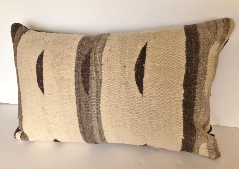 20th Century Custom Pillow by Maison Suzanne, Cut from a Moroccan Vintage Wool Ourika Rug For Sale