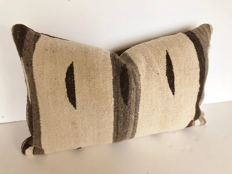 Custom Pillow by Maison Suzanne, Cut from a Moroccan Vintage Wool Ourika Rug For Sale 1