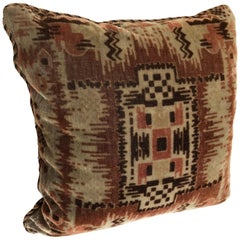 Custom Pillow by Maison Suzanne Cut from an Antique Amsterdam School Textile