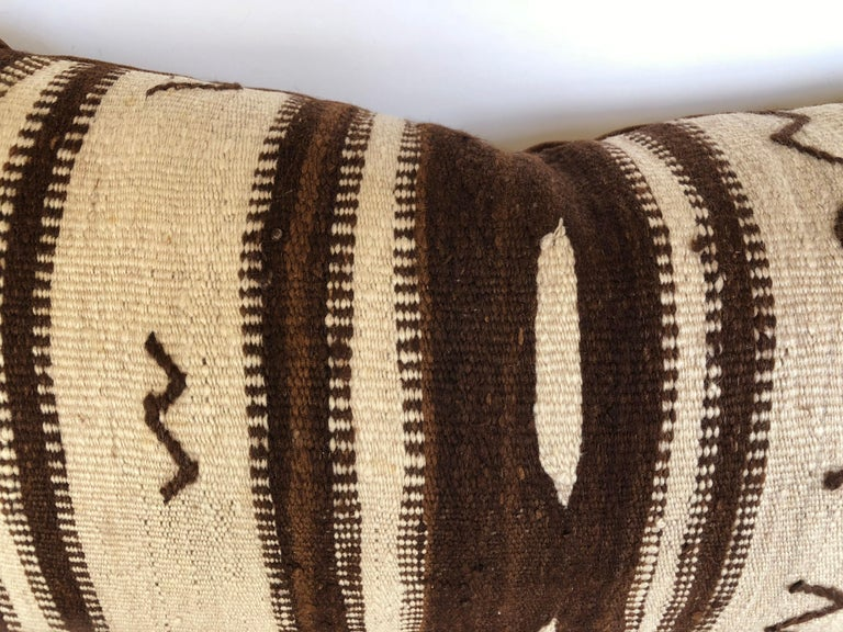 Custom Pillow by Maison Suzanne from a Vintage Moroccan Wool Ourika Rug  In Good Condition For Sale In Glen Ellyn, IL