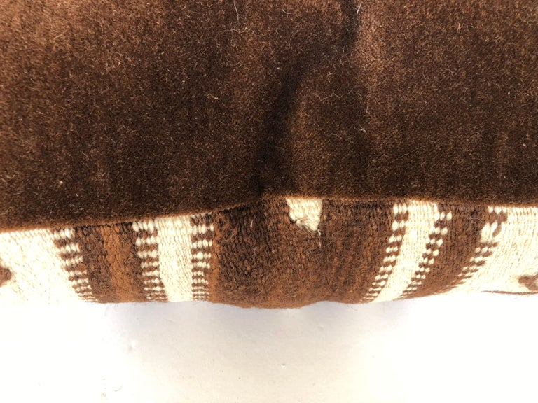 20th Century Custom Pillow by Maison Suzanne from a Vintage Moroccan Wool Ourika Rug  For Sale