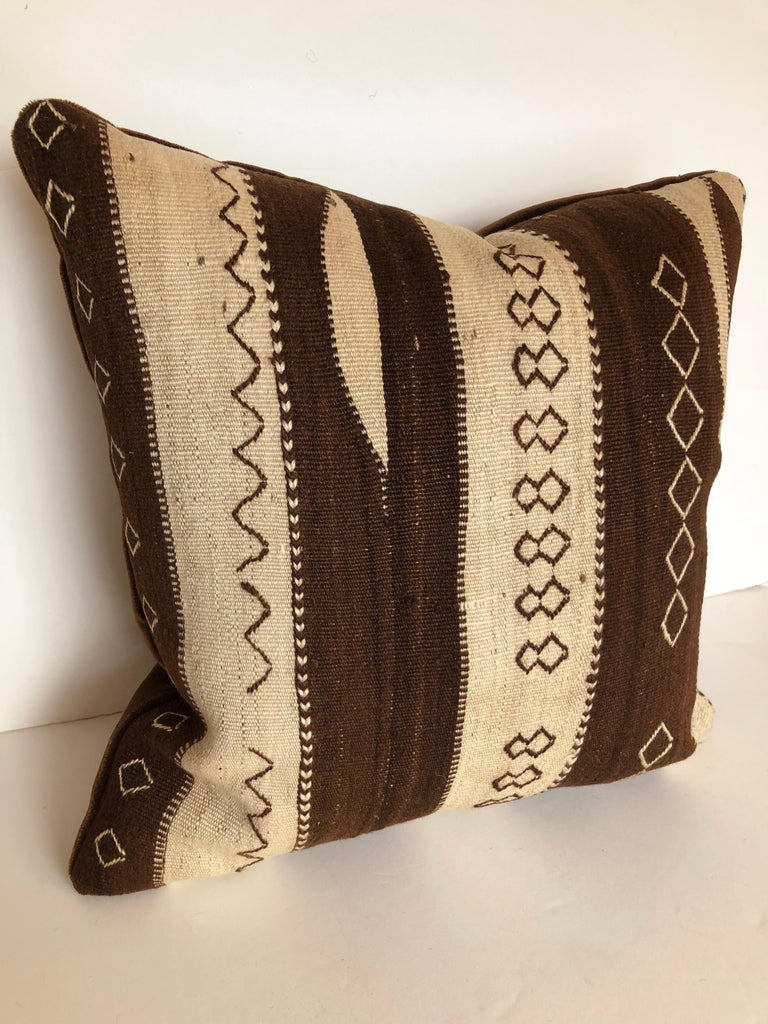 Custom Pillow by Maison Suzanne from a Vintage Moroccan Wool Ourika Rug  For Sale 2