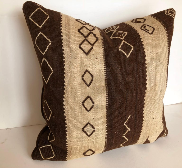 Custom Pillow by Maison Suzanne from a Vintage Moroccan Wool Ourika Rug  For Sale 3