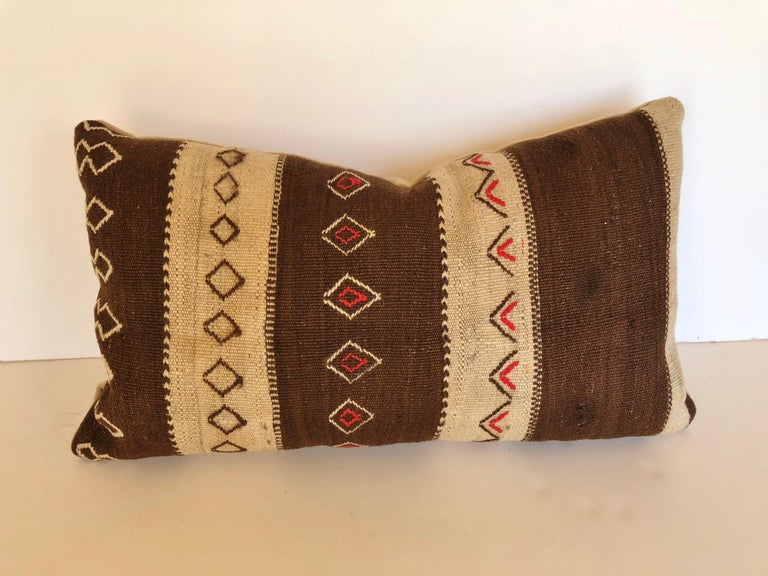 Custom Pillow by Maison Suzanne, Cut from a Vintage Moroccan Wool Ourika Rug For Sale 4