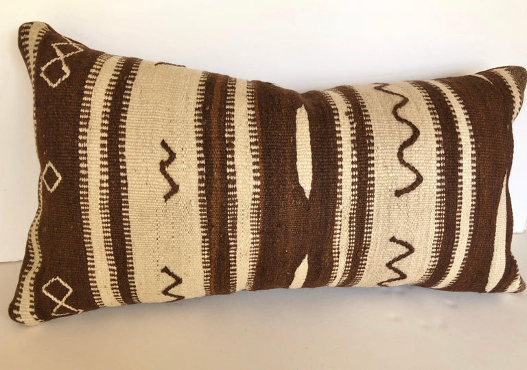 Custom Pillow by Maison Suzanne from a Vintage Moroccan Wool Ourika Rug  For Sale 4