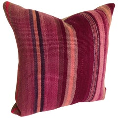 Custom Pillow by Maison Suzanne Cut from a Vintage Moroccan Wool Berber Rug