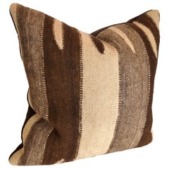 Custom Pillow by Maison Suzanne Cut from a Vintage Moroccan Wool Ourika Rug