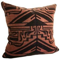 Custom Pillow Cut from a Vintage Silk Velvet Amsterdam School Textile, 1915-1927