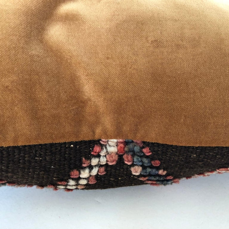 Custom Pillow Cut from a Vintage Wool Moroccan Glaoui Rug, Atlas Mountains For Sale 1