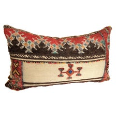 Custom Pillow Cut from a Vintage Wool Moroccan Glaoui Rug, Atlas Mountains