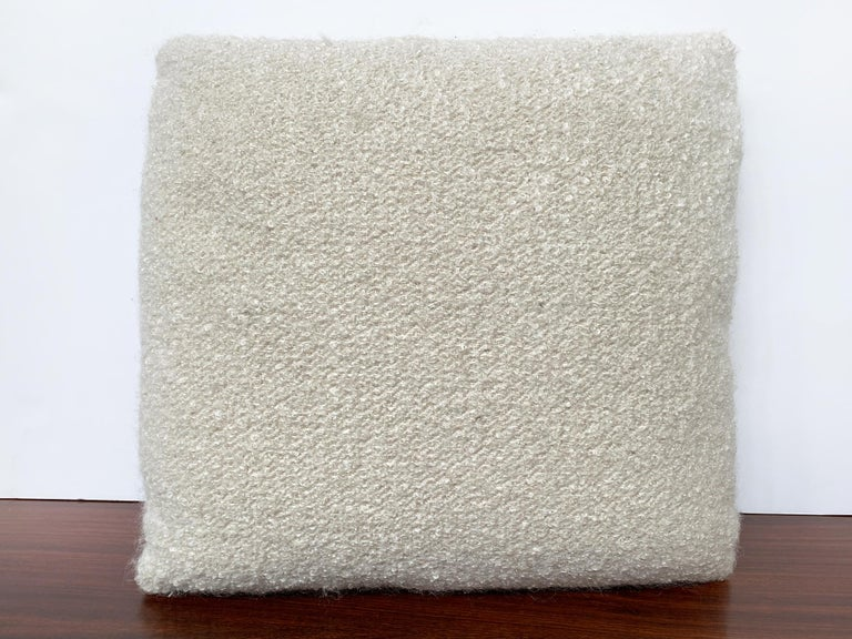American Custom Pillow with Cream Bouclé from Schumacher For Sale