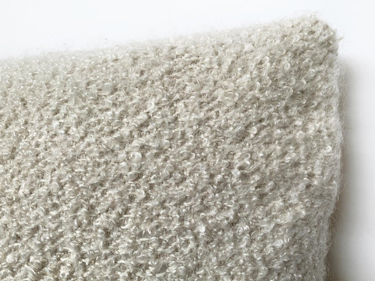 Custom Pillow with Cream Bouclé from Schumacher In New Condition For Sale In New York, NY