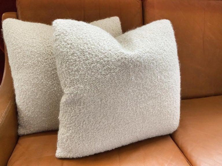 Custom Pillow with Cream Bouclé from Schumacher For Sale 1