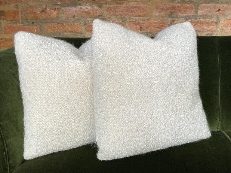 Custom Pillow with Cream Bouclé from Schumacher For Sale 2