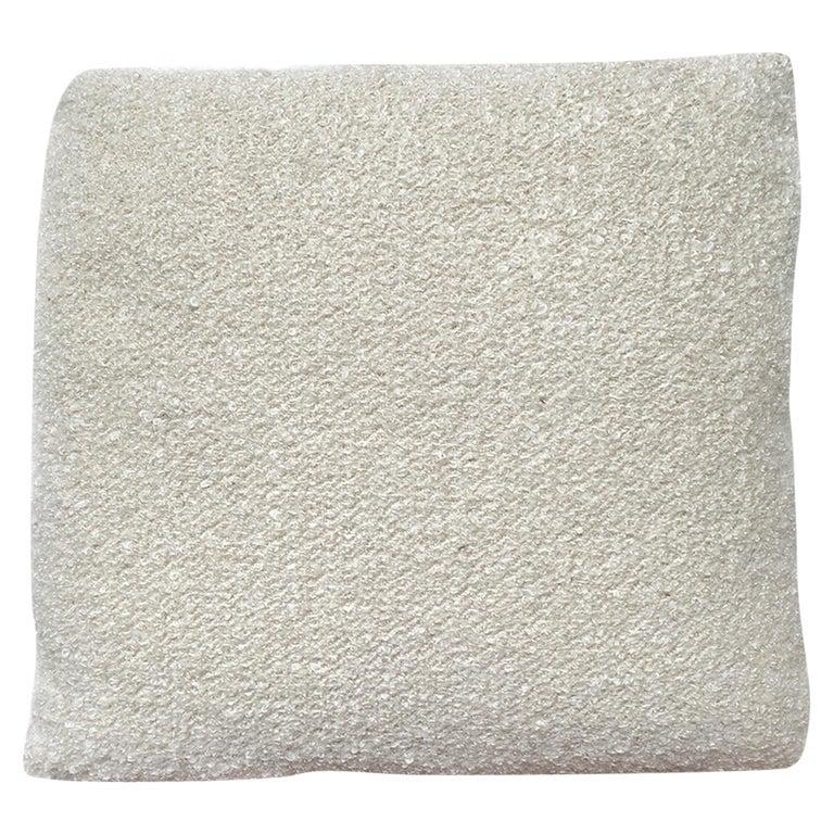Custom Pillow with Cream Bouclé from Schumacher For Sale