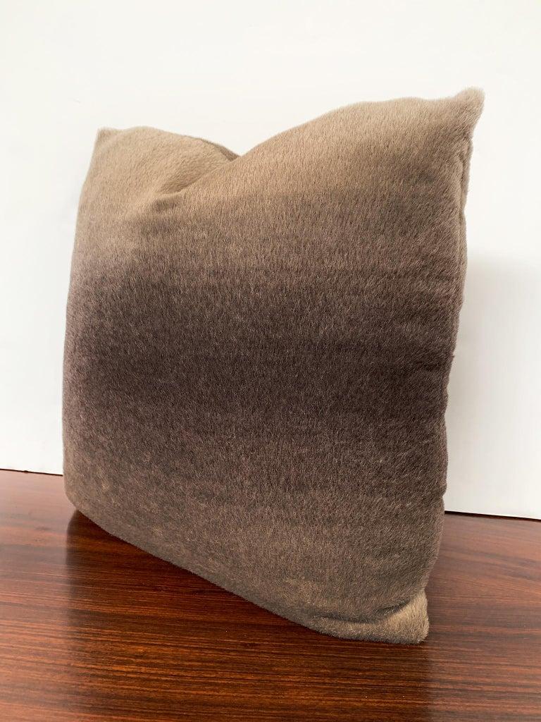 American Custom Pillow with Schumacher Mohair Velvet For Sale