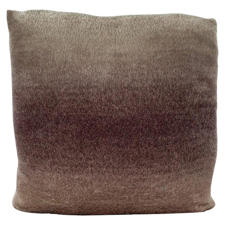 Custom Pillow with Schumacher Mohair Velvet For Sale