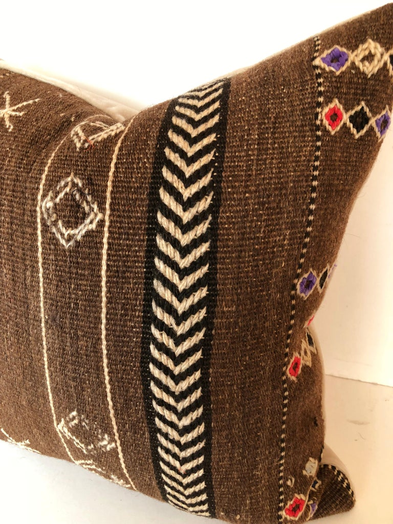 Custom Pillows by Maison Suzanne Cut from a Vintage Wool Moroccan Ourika Rug For Sale 1