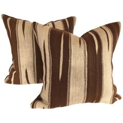 Custom Pillows by Maison Suzanne Cut from a Vintage Moroccan Ourika Wool Rug