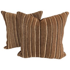 Custom Pillows by Maison Suzanne Cut from a Vintage Moroccan Wool Berber Rug