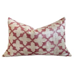 Custom Pink and Natural Silk Velvet Pillow