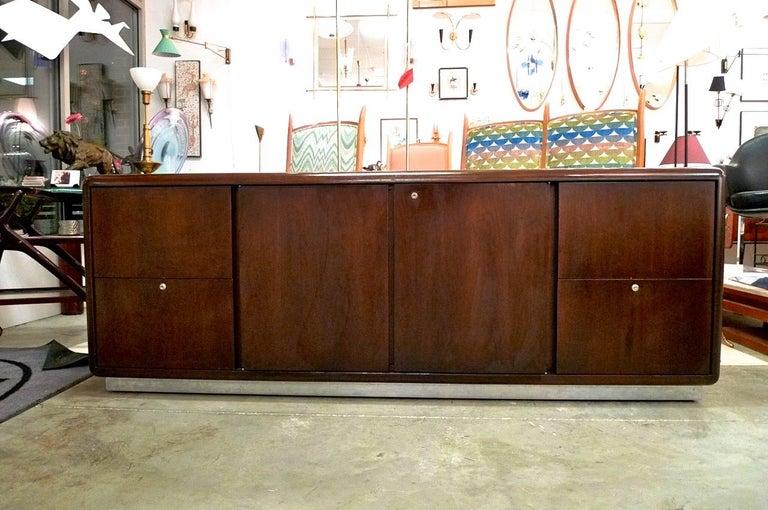 Warren Platner Style Executive Pedestal Desk by Gianni 4