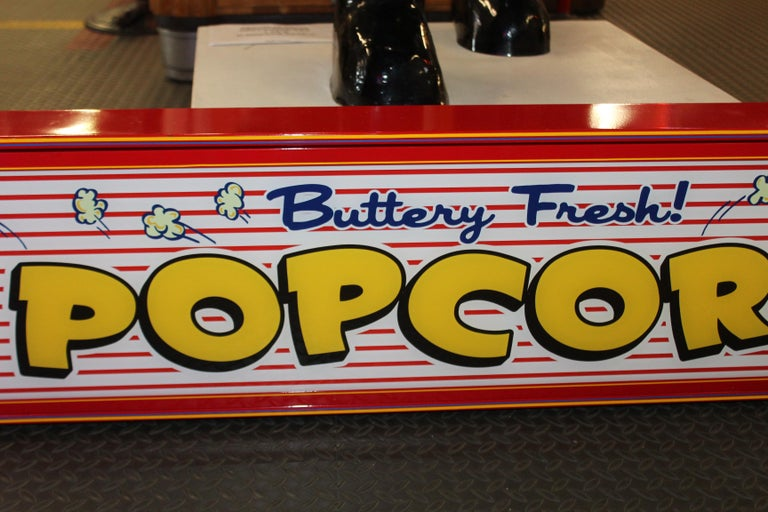 American Custom Popcorn Light Up Sign For Sale