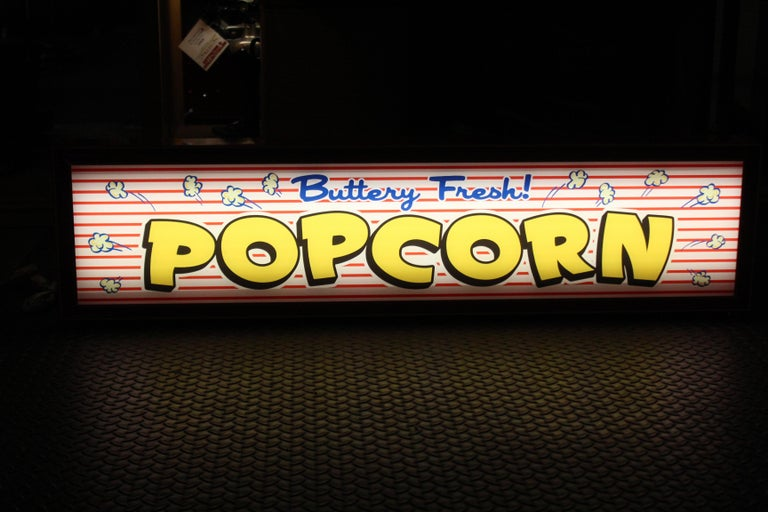 Custom Popcorn Light Up Sign For Sale 2