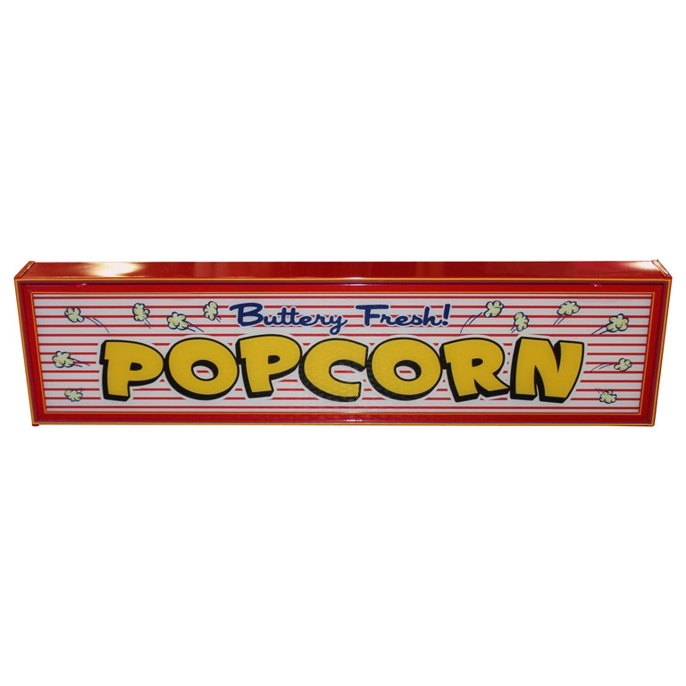 Custom Popcorn Light Up Sign For Sale