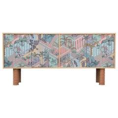 Custom Postmodern Sideboard Pastel Miami Wallpaper