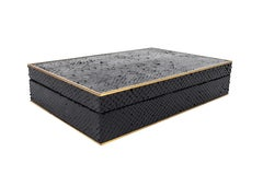 Custom Python and Brass Wood Box