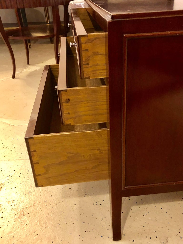 Nightstand Table: Custom Quality Three-Drawer Nightstand Or End Table For