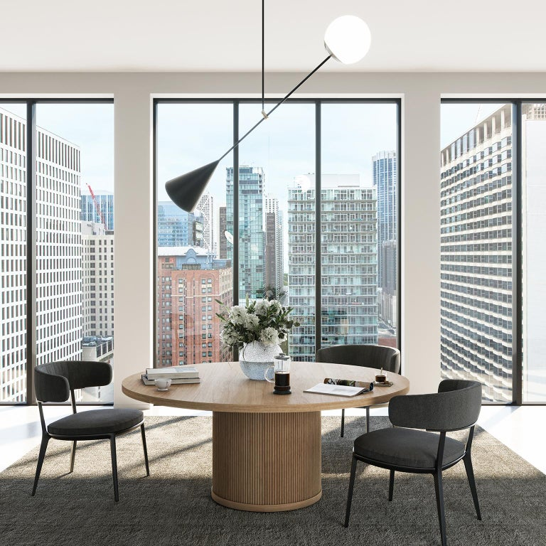 The Radius meeting table is a signature wood table that anchors a meeting room with purpose. Seating in a circle puts everyone in clear view, fostering participation and conversation. Granted, the tabletop could be cut as a square or oval, but we're