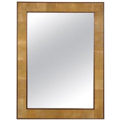 Custom Rectangular Shagreen Mirror