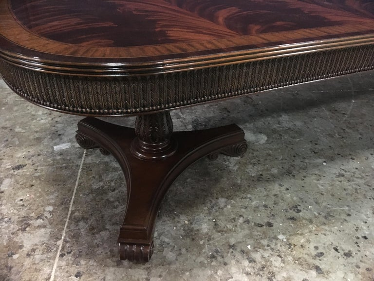 Custom Regency Style Mahogany Dining Table by Leighton Hall For Sale 4